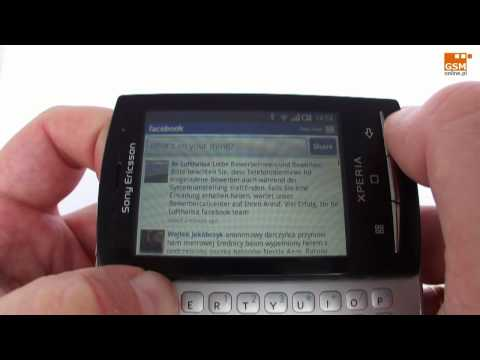 Sony Ericsson U20i XPERIA X10 mini pro - hands on