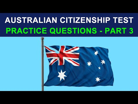 Australian Citizenship Test 2013 -- Practice questions #3