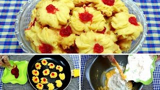 Cara Membuat Kue Semprit Menggunakan Teflon Tanpa Mixer