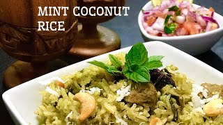 Mint Coconut Rice | One pot meal| Kids Friendly | healthy Meal | quick and easy flavorful Rice