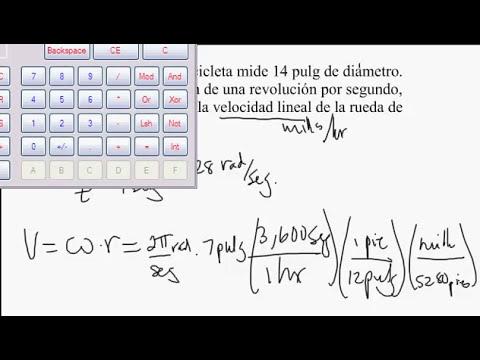 velocidad angular, lineal, area de sector y largo arco