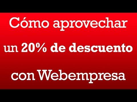 Como aprovechar un descuento con Webempresa