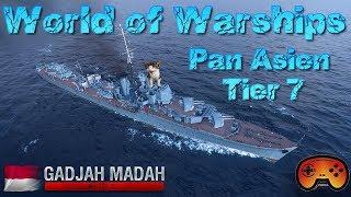 Gadjah Mada Tier 7 DD Pan Asien /GameplayPreview - World of Warships -  Deutsch/German