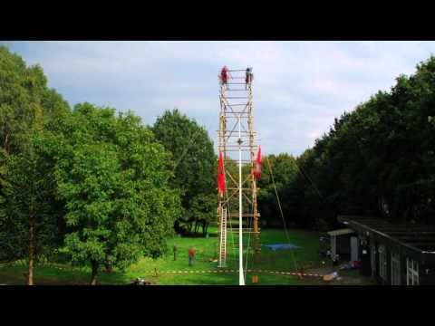 JOTA 2010: Building the antenna tower