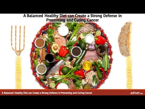 A Balanced Healthy Diet can Create a Strong Defense in Preventing and Curing Cancer