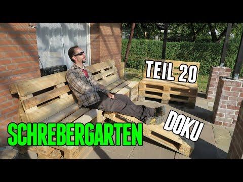 Schrebergarten Doku Teil 20 Palettenmöbel bauen #277
