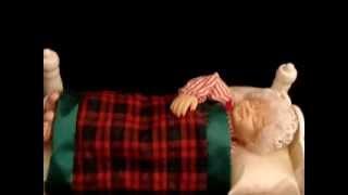 Vintage 1994 Telco Motionette Animated Sleeping Snoring Mrs Santa Claus Working