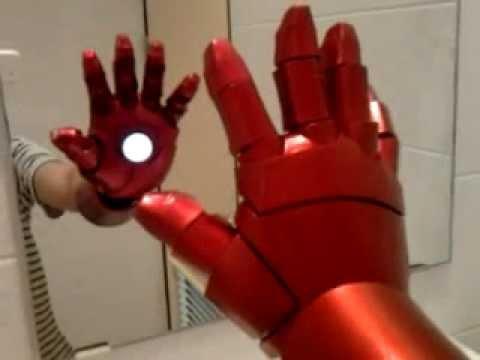 ironman hand repulsor test youtube