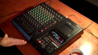 Yamaha MD8 recording demo for 8-track recorder