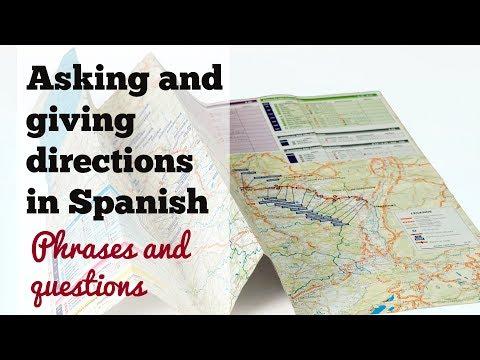 Asking and giving directions in Spanish - Direcciones en español