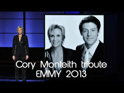 65° Emmy Awards - Jane Lynch Tribute for Cory Monteith { GLEE } 2013