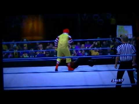 WWE 2K14 Ronald Mcdonald vs Freddy Krueger Signals Match