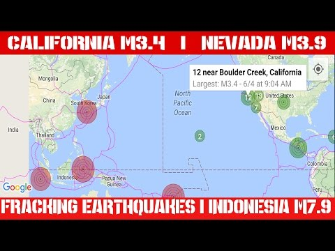 Earthquake Report | June 4, 2016 | California M3.4 | Nevada M3.9 | Indonesia M7.9