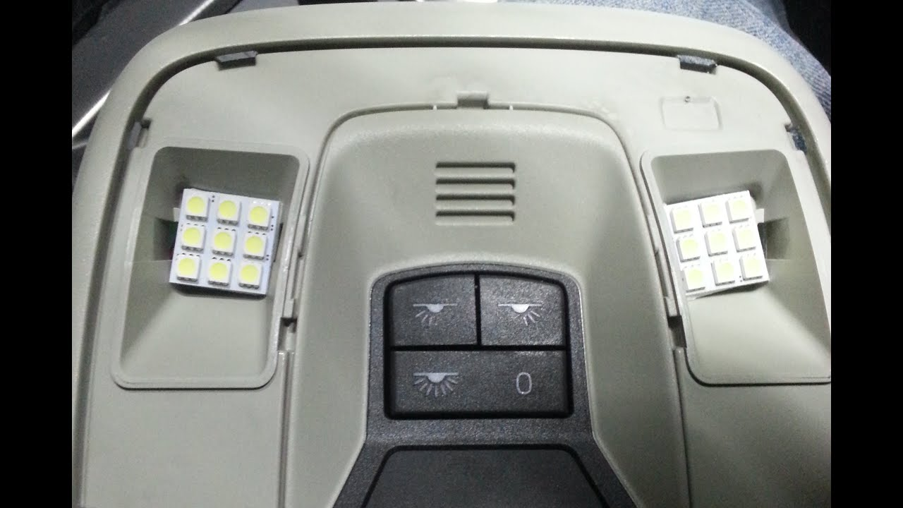 interior LED conversion Volvo C30 T5 - YouTube