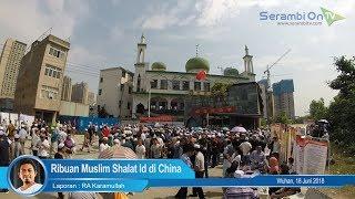 Ribuan Muslim Shalat Idul Fitri di China