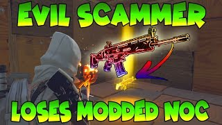 Dumb Scammer Loses Modded Nocturno! (Scammer Gets Scammed) Fortnite Save The World