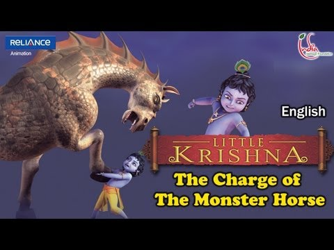Little Krishna English Episode 10 the Charge Of The Monster Horse Animation Series video