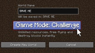 If CHALLENGE MODE was Added to Minecraft