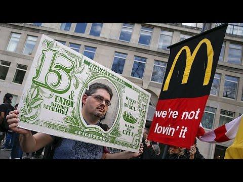 Tausende protestieren in den USA gegen Lohndumping bei Fastfood-Ketten