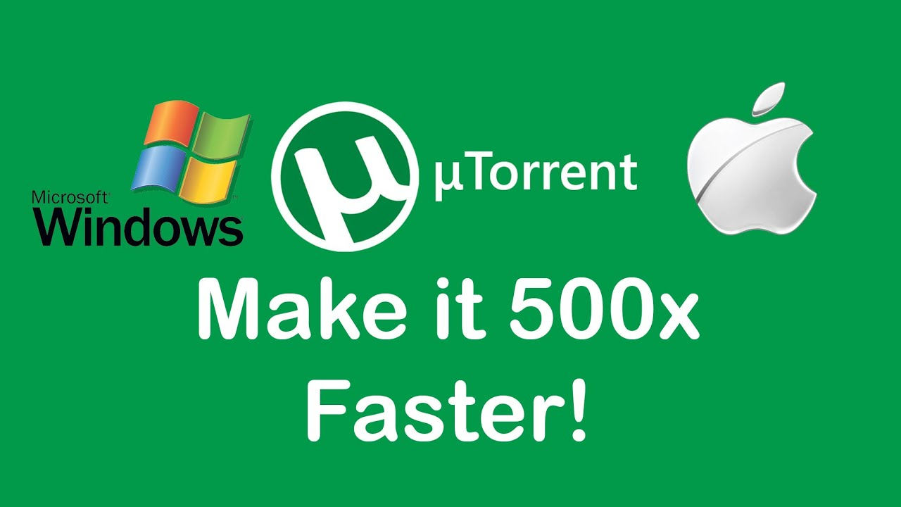how to make utorrent download faster mac