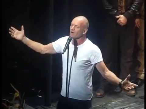 """Jock The Singing Welder"" (Sting's Birthday Curtain Call, ""The Last Ship"", Oct 2, 2014)"