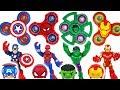 Dinosaurs Are Coming Marvel Avengers Hulk Spider Man Transform Using Fidget Spinner DuDuPopTOY mp3