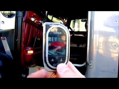 Viper 5902 Peterbilt Semi Truck Security and Starter Demonstration Full size and Compact vehicles