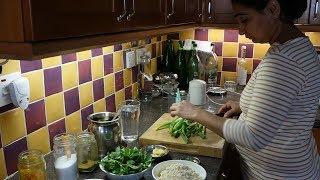METHI NA PUDLA / PUDA RECIPE (Chickpea Flour Pancakes with Fresh Fenugreek Leaves and Spring Onion).