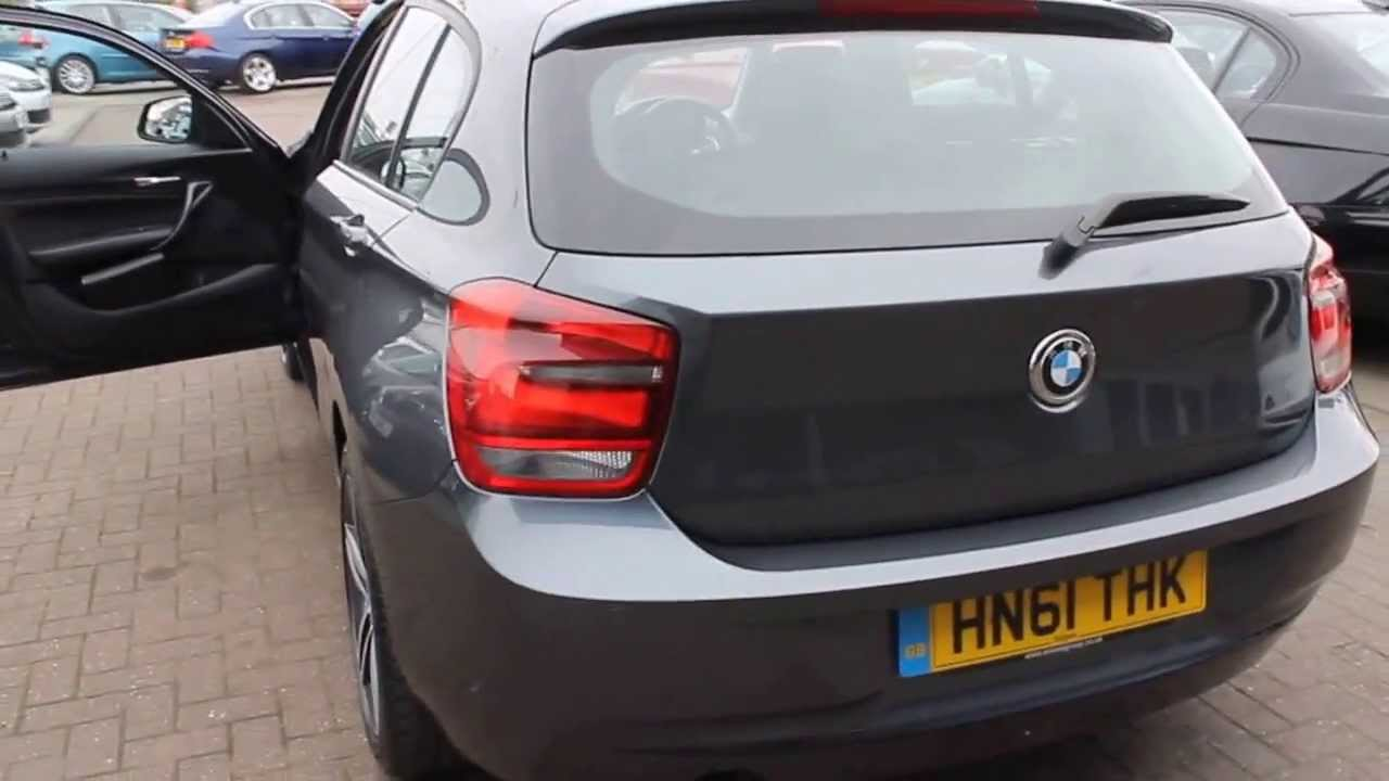BMW 118D Sport Finished In Mineral Grey At Rix Motor Company Warrington - YouTube
