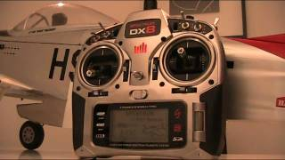 Spektrum DX8 And P51 mustang - Smooth flap settings