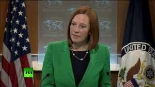 Blame game backfire: US State Dept's Psaki in Simferopol bullet dodge  3/19/14 (Russia)