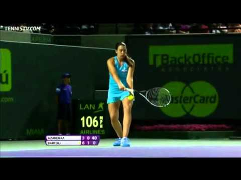 Azarenka vs Bartoli - Miami 2012 - Highlights