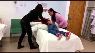Pasar de decúbito lateral a prono