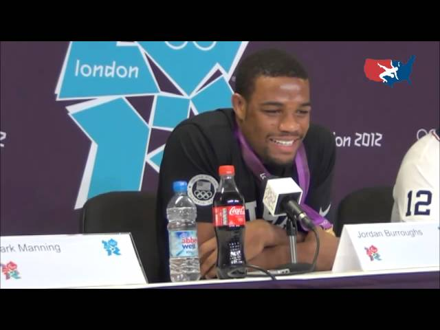 Olympic champion Jordan Burroughs at second press conference on his gold medal night