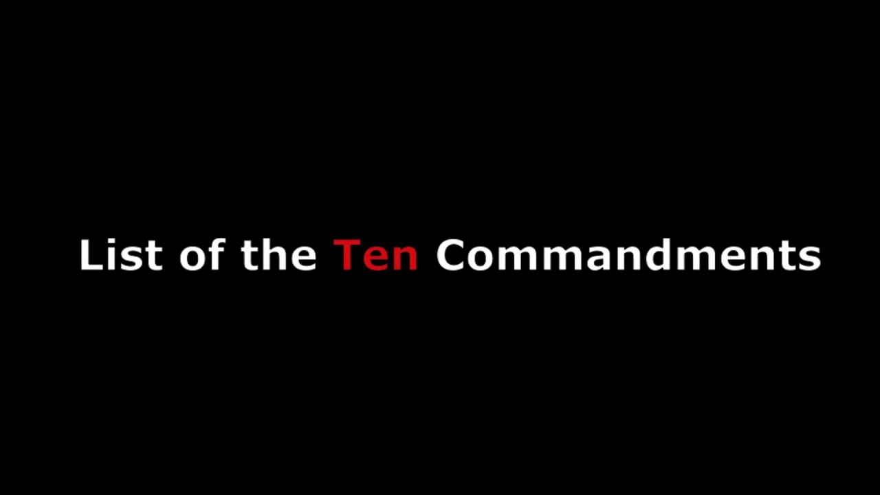 List of the Ten Commandments in Order in the Bible For Adults & For ...