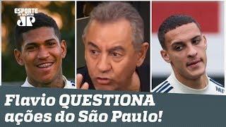 """""""Tá MUITO esquisito!"""" Flavio Prado questiona ações do São Paulo no mercado!"""