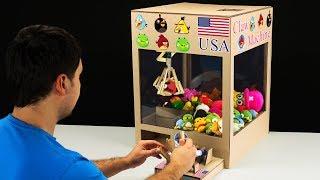 How to Make Hydraulic Claw Machine from Cardboard