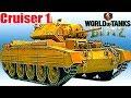 WoT Blitz обзор Cruiser 1 британский легкий танк  новичкам британская ветка World of Tanks Blitz#55