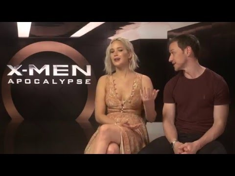 Jennifer Lawrence and James McAvoy XMen Apocalypse Interview