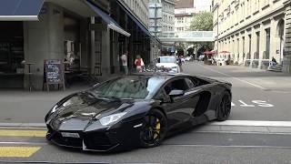Loud Lamborghini Aventador LP700-4 w/ Capristo exhaust in Zurich. (Brutal sound!)