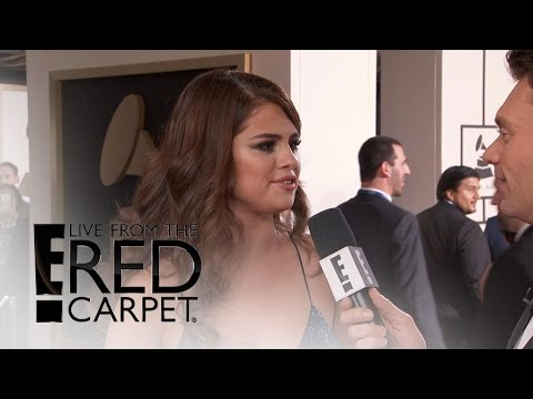 "Selena Gomez Talks ""Chill"" Valentine's Day at Grammys 