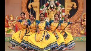 Sridevi Nrithyalaya - Bharatanatyam Dance -A clip from  Ganesa Pancharathnam (group)