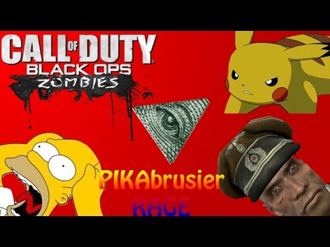 PIKA RAGE!!! Black Ops 2 Zombies Origins Funny Moments (PIKA Rage, Panzer Mutha F*cka, An More!)