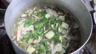 Lao Food - How to Make Bamboo Shoot Soup