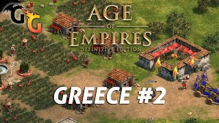 Age of Empires: Definitive Edition - Greece #2 - Acropolis (Hardest). Commentary. AI+
