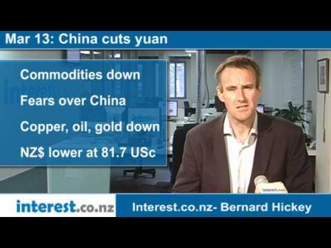 90 seconds at 9 am: China cuts yuan(news with Bernard Hickey)