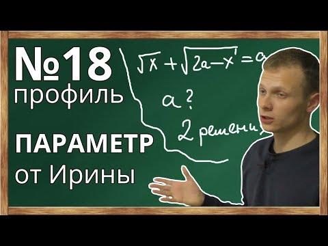 📌Параметр (№18) из профиля ЕГЭ по математики. Задача от Ирины.