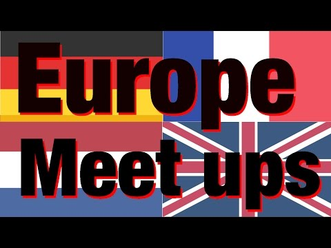 Europe meetups - Koln, London, Paris & Amsterdam
