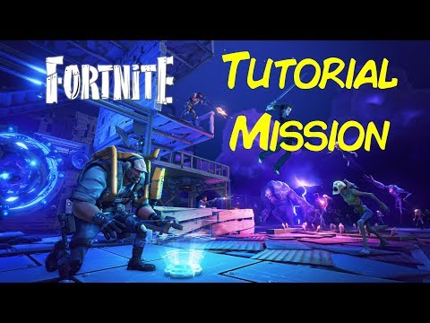 Fortnite Tutorial Mission [NO COMMENTARY with EPIC SETTINGS]