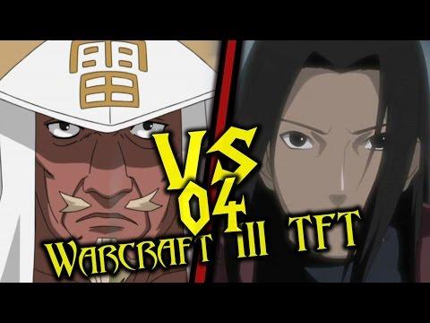 Warcraft III: TFT - Naruto Battle Royal - 04 - Raikage vs Hashirama